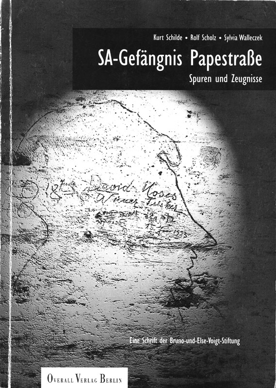 "Book cover of the publication ""SA-Gefängnis Papestraße"" from 1996"
