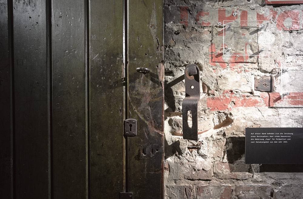 Detail of the door lock, former prison cell 3. Photo: Harry Weber