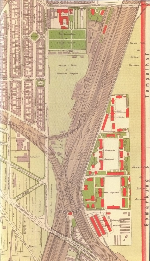 Site plan of the barracks area from 1909, Bauarchiv Tempelhof-Schöneberg